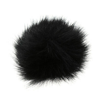 Black Outdoor Microphone Furry Windscreen Cover Windshield Muff Mic Parts