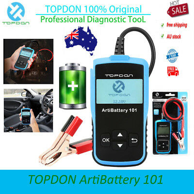 TOPDON ArtiBattery101 Car Boat 12V Battery Charging Tester Analyzer 2000CCA AU
