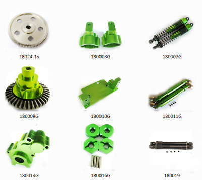 Aluminum alloy Upgraded Parts For 1:10 HSP Rock Crawler 94180 RC Car green HOT
