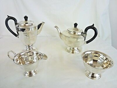 Lovely Viners Sheffield Silver Plated Tea Set - 4 Pieces                    #cr#