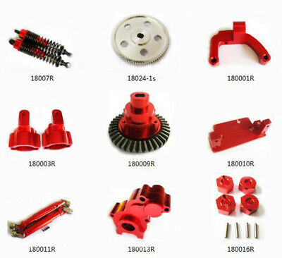 Aluminum alloy Upgraded Parts For 1:10 HSP Rock Crawler 94180 RC Car Red DIY HOT