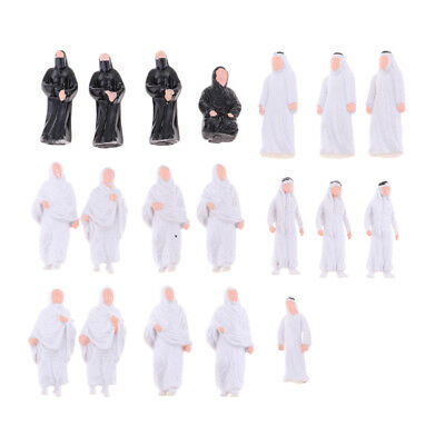 Pack/20pcs 1/50 O Scale Model People Arabian Arabs Figure Landscape Scenery