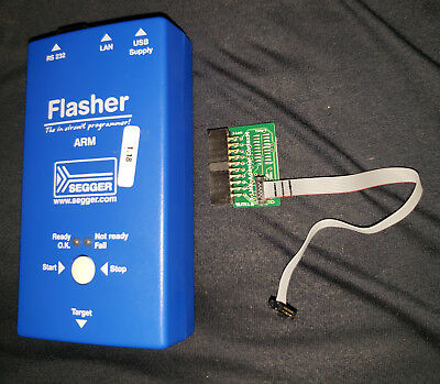 Tested, Segger Flasher Arm Flash Stand Alone / Programmer w/ Cortex Adapter