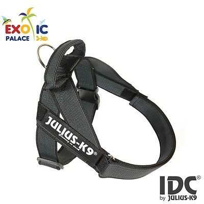 Julius-K9 Idc Belt Harness New Black Gray Pettorina Per Cane In Nylon Resistente