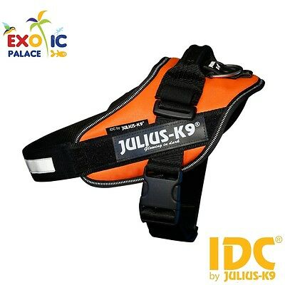 Julius-K9 Idc Powerharness Uv Orange Arancione Fluo Pettorina In Nylon Per Cane