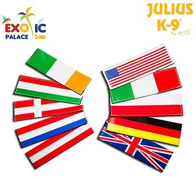 Julius-K9 2 Etichette In Velcro Patch Bandiere Flag Per Pettorina Cane Idc Belt
