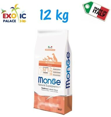Monge All Breed Adult Salmone 12Kg Crocchette Cibo Secco Alimento Per Cane Dog