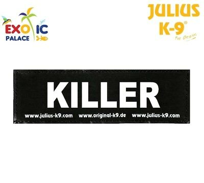 Julius-K9 2 Etichette In Velcro Patch Killer Per Pettorina Cane Idc Belt Power