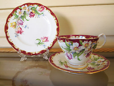 "Bell China ""Narcissus"" Trio Made In England 1930s"