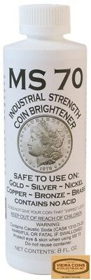12 x MS70 Coin Cleaner Brightener & Cleaner for Gold Silver Copper Nickel #78530