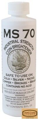 5 x MS70 Coin Cleaner Brightener & Cleaner for Gold Silver Copper Nickel -#78530
