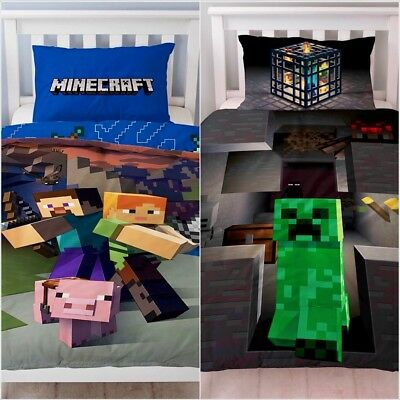 Minecraft Single Reversible 2 in 1 Game Character Bedding Duvet Cover