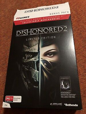 Dishonored 2 EB Games Exc Limited Edition - PS4 Playstation 4 Brand New Sealed