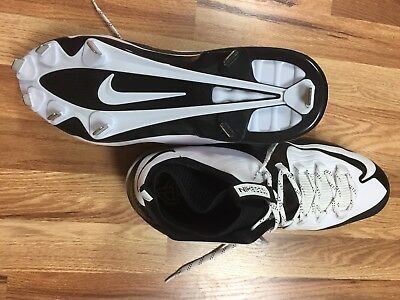 buy popular f4bab 48be2 Nike Air Max MVP Elite 2 3 4 Baseball METAL Cleat White Black NEW Mens