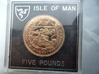 1993 Isle of Man Virenium 5 Pounds F1 Nigel Mansell