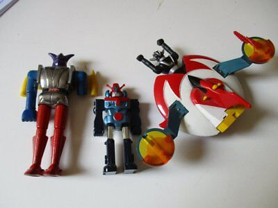 3 x SHOGUN Space Toy Roboter Ufo Toys Metall JAPAN MATTEL 80er Jahre