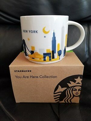 NEW WITH BOX Starbucks NEW YORK You Are Here Collection Mug Cup DISCONTINUED