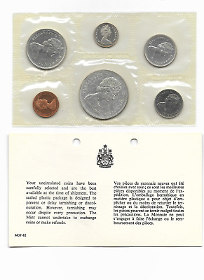CANADA 1965 Proof-like Uncirculated Coin Set in Original Cellophane Wrapper