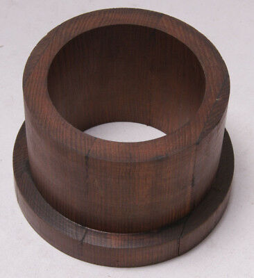 "Lamson Vintage Industrial Foundry Wood ~5.25"" Belt Drive Hub Mold Pattern M50E"