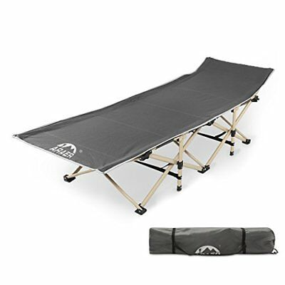ARAER Camping Cot 450LBSMax Load Portable Folding Cot with Carry Bag for Adul...