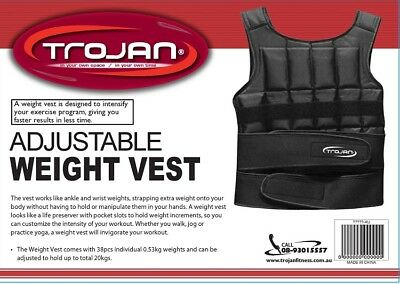 20 Kg Adjustable Weighted Vest Crossfit Training MMA Gym Weight Training Fitness
