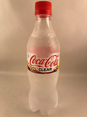 NEW 1 x bottle CLEAR COKE - 500ml Japanese Clear Coca Cola from Japan UNOPENED