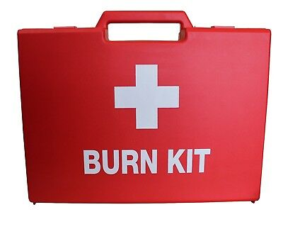 Empty First Aid Burn Kit Box - Small/Large - Red -  Emergency Medical Storage