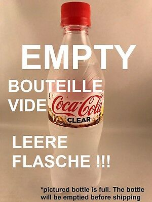 NEW 1 x EMPTY bottle CLEAR COKE - 500ml Japanese Clear Coca Cola from Japan