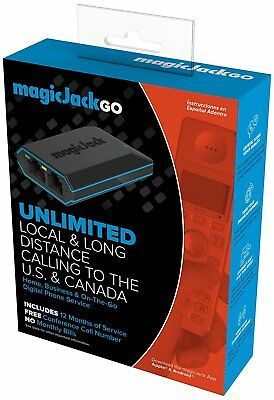 Magic Jack Go 2017 Version Digital Phone Service 12 MONTHS FREE SERVICE