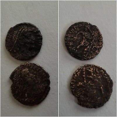 LOT of 2    ANCIENT ROMAN BRONZE COINS