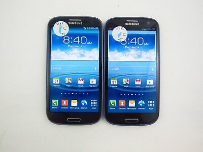 Lot of 2 Samsung Galaxy S3 R530X Unknown Carrier Check IMEI Grade C 5-040