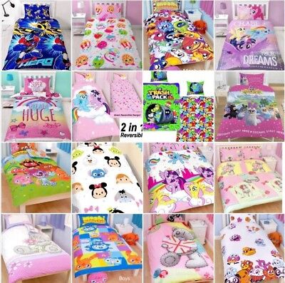 Kids Toys Dolls JoJo LOL Surprise MLP Shopkins Tsum Single Double Duvet Set