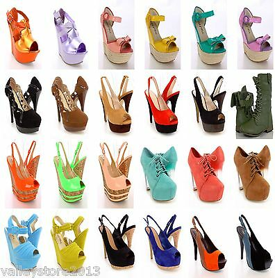 DC1 NIB 50 Womens Wholesale Lot Mix High Heel Platform Pump Evening Sandal Shoes