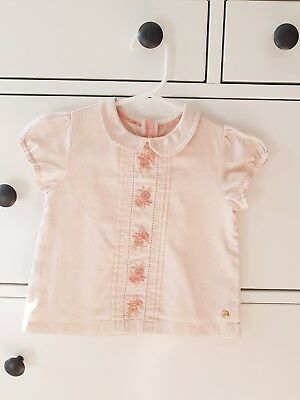Baby girl's peach blouse (M&S, 9-12 months)