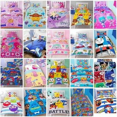 Kids TV Nick Jnr Paw Patrol Peppa Pig Pokemon PJ Thomas Single Double Duvet Set