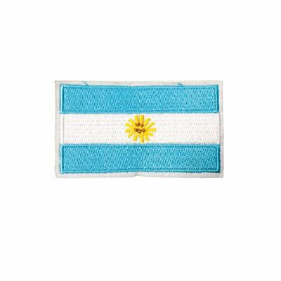 Argentina Flag (Iron On) Embroidery Applique Patch Sew Iron Badge