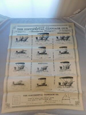 Vintage The Continental Carriage Co Advertising Page Cincinnati Ohio