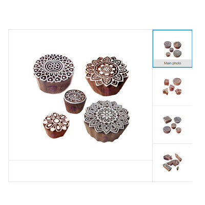 Popular Wooden Block Shapes for Printing DIY Fabric Textile Printing Stamps