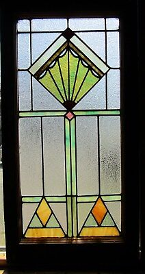 Art Deco Antique Stained Glass Window