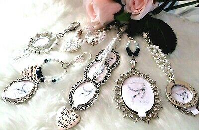 Bridal Bouquet Memory Charm Locket Wedding Keepsake Keyring Gift Something Blue