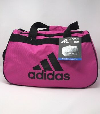 0b53097c5e NWT ADIDAS Diablo Small II Duffel Bag Solar Pink Black Sport Gym Travel  Carry