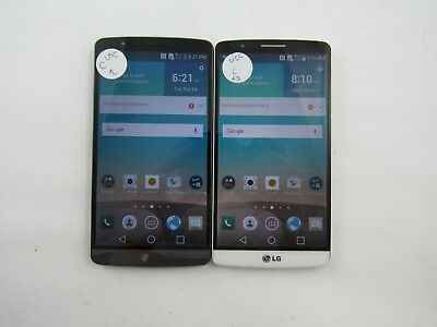 Lot of 2 LG G3 US990 U.S. Cellular Check IMEI Grade C 5-1066