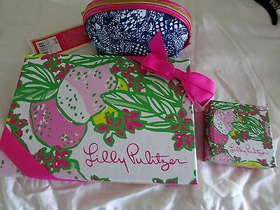 3 NWT Lilly PULITZER Items SPOT-ON Ears SCUBA CUBA Neck UPSTREAM Bag FREE SHIP!