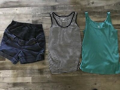 Maternity Clothes Lot Shorts And Tanks