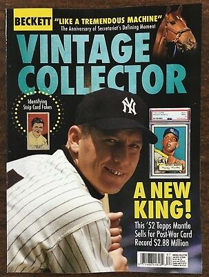 Beckett Vintage Collector Price Guide June 2018 Mickey Mantle Cover