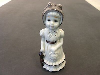 """Petite Maiden with Bonnet, Porcelain Figurine made in Taiwan ROC approx. 4"""""""