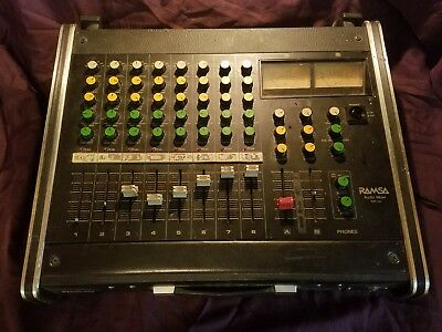 PANASONIC RAMSA WR-130 8 CHANNEl VINTAGE AUDIO SOUND BOARD CONTROL CONSOLE