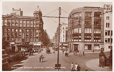 Glasgow - Buchanan St Looking North - Lovely Real Photo By Valentine's 1954