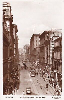 Glasgow - Renfield Street With Trams - Real Photo By Ralston 1954