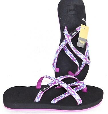 bae97db6c772 New Nwob Womens Size 10 Teva Olowahu Mush Sandals Flip Flops Shoes Zaro  Purple